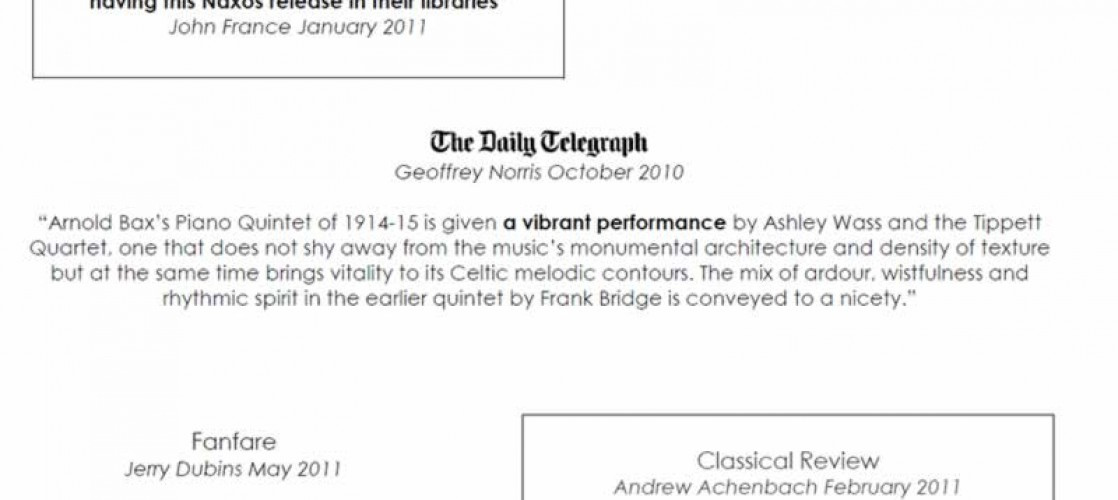 Bax & Bridge CD Reviews (1/2)